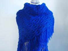 Dark Blue shawl+Finished item on sale!