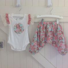 Girl Onesie & Harem Pants Set