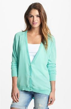 f1b998c8040b9 DKNYC Chiffon Front Cardigan available at  Nordstrom Sweaters For Women