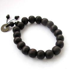 Wood Beads Buddhist Prayer Mala Bracelet