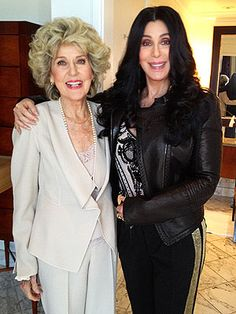 The acorn doesn't fall far from the tree.  Cher, 66, with her mother, 86.