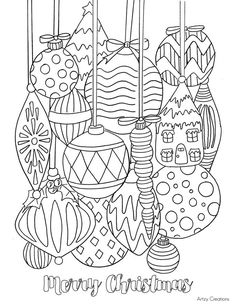 Free-Christmas-Ornament-Coloring-Page-01-Artzy Creations
