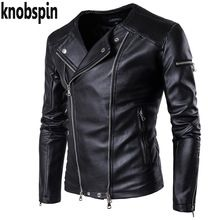 {Like and Share if you want this  Knobspin Men PU Leather Jacket Brand Black Male Bomber Motorcycle Biker Man's Coat 2017 Autumn Zipper design plus size M-5XL|    Hot arriving Knobspin Men PU Leather Jacket Brand Black Male Bomber Motorcycle Biker Man's Coat 2017 Autumn Zipper design plus size M-5XL now on sale $US $82.90 with free postage  you will find that product as well as far more at the estore      Get it now on this site…