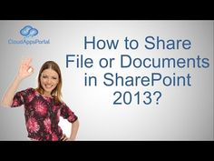 How to Share File or Documents in SharePoint 2013 - YouTube