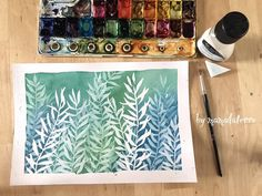 Playing with masking fluid Watercolor Masking Fluid, Liquid Watercolor, Watercolor Plants, Watercolor Cards, Watercolor Paintings For Beginners, Watercolor Artists, Project Runway, Botanical Art, Watercolours