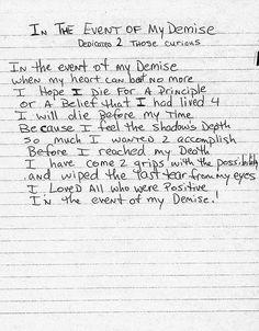 Poems Written By Tupac Shakur   poem poetry handwritten 2pac tupac tupac shakur tupac amaru shakur