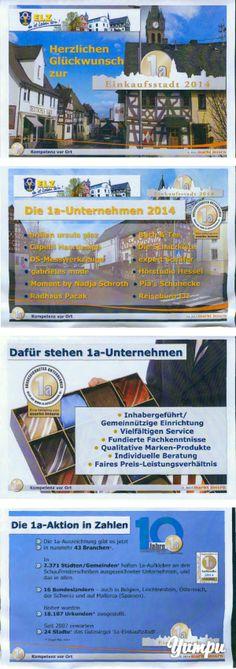 """ELZ - 1a-Einkaufsstadt 2014-ELZ wurde im Jahr 2014 zur """"1a-Einkaufsstadt"""" von """"markt intern"""" ausgezeichnet. In dieser Broschüre finden Sie das Grußwort vom Elzer Bürgermeister, Horst Kaiser und die 12 ausgezeichneten Fachhändler.Diese Broschüre wurde zur """"1a-Einkaufsstadt 2014 ELZ -Feier"""" zur Verfügung gestellt.A@D"""