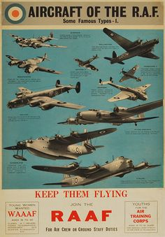 """Aircraft of the R.A.F."" - on the photostream by Kemon01, via Flickr"