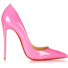 Christian Louboutin So Kate 120mm pumps ($541) ❤ liked on Polyvore featuring shoes, pumps, heels, pink shoes, sexy stilettos, pointed toe pumps, stiletto heel pumps, neon pink pumps and high heel stilettos