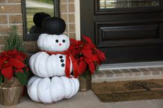 - I'm totally doing that this weekend with the pumpkins that are in the front yard still!  repurpose decorative pumpkins into Christmas decorations