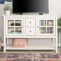 Modern 52-inch Wood Console Table Buffet TV Stand | Overstock.com Shopping - The Best Deals on Buffets