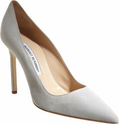 "Manolo Blahnik Grey BB Pump from Episode 301 ""It's Handled."""