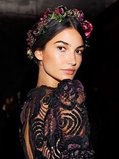 The A-list: Our 8 favorite celebrity looks to try now—Lily Aldridge's floral crown