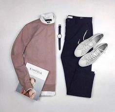 Pale pink sweater. Kanye West style #flatlayoftheday #flatlay #outfitgrid #outfitgrids #shopthatgrid #flatlays #flatlaynation #flatlaystyle #everydaycarry #4UrbanStyle