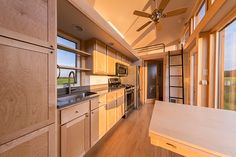 A 269 sq. tiny house on wheels that sleeps up to six people. Includes a full-size tub/shower combo and a large kitchen with range and refrigerator. Tiny House Swoon, Tiny House Design, Tiny House On Wheels, Tiny Houses For Sale, Little Houses, Small Houses, Tiny House Listings, Tiny Spaces, Home Insurance