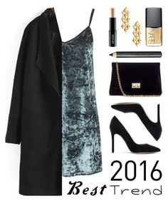 """""""Best Trend 2016: Velvet"""" by lgb321 ❤ liked on Polyvore featuring Gianvito Rossi, Topshop, Marina B, Rodo, Burberry, Lord & Berry, NARS Cosmetics, velvet and besttrend2016"""