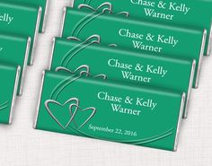 Sweeten your wedding with emerald green candy bar favors for your guests