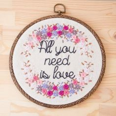 This embroidery work comes framed by wooden embroidery hoop in 20 cm diameter or plastic hanging frame. Made to order. We can customise: - Colours -
