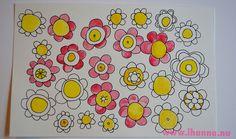 Summer inside - a Flower Doodle by @iHanna of www.ihanna.nu #doodles