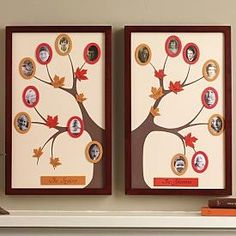 Here's another simple mother's day gift you could make for mom or grandma. 1 or 2 inexpensive picture frames, something for an oval template, some craft or scrapbooking paper and freehand the tree cut out. Simple!