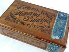 Antique Wooden Cigar Box, c.1888, Havana Principes, Philadelphia, Tax Stamp   eBay
