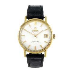 LOT:203 | OMEGA - a gentleman's 18ct yellow gold Seamaster wrist watch.