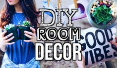 DIY Room Decor! Tumblr + Urban Outfitters Inspired!