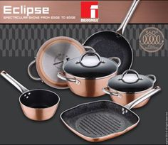 Bergner-Copper-Pans-Pots-Full-Induction-with-Non-Stick-By-Xylan-By-Whitford