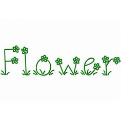 Flower Embroidery Font Designs