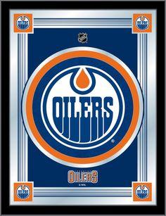 Edmonton Oilers NHL Logo Mirror - Visit SportsFansPlus.com for Discount!