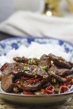 [chinesisch] Pfannengerührtes Lamm mit Kreuzkümmel | Foodina