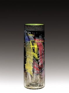 Sculptural Vessel Title Black Cylinder #3 Department Modern Category Contemporary Maker(s) Chihuly, Dale ((American, b. 1941)), Artist Mace, Flora C. ((American, b. 1949)), Assistant Mongrain, James ((American, b. 1968)), Assistant, Thread Drawings
