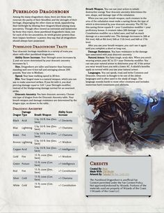 Pureblood Dragonborn - What the PHB Dragonborn Should Have Been - UnearthedArcana
