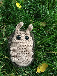 I think this looks like a roly-poly pill bug. Ravelry: Project Gallery for Roll-up Armadillo pattern by Kati Galusz
