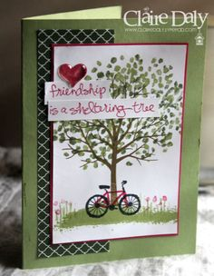 Stampin' Up! Sheltering Tree Birthday Card using the Thumping Technique