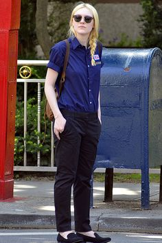 dakota fanning on set of fanny | Dakota Fanning on the set of Very Good Girls - celebrity fashion ...
