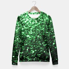 Beautiful Glamour Green glitter sparkles Fitted Waist by #PLdesign #sparkles #GreenSparkles #SparklesGift #liveheroes