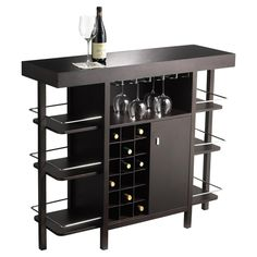 Bar with racks and storage for wine and pint glasses, wine and liquor bottles, tools, towels, etc. Future project down the line..