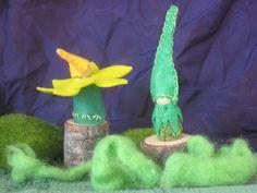 Felt Green Garden Elf - Waldorf Peg Doll / Storytelling / Toy.. $12.00, via Etsy.