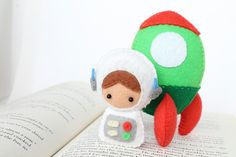 Patterns: Felt Astronaut Doll and Rocket Plush by typingwithtea