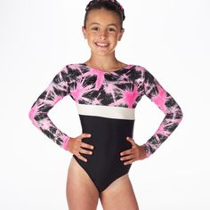 05bb29b29f806e Alegra Girls Celeste Long Sleeve Gymnastics Leotard