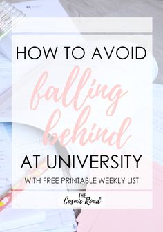 Falling behind in classes can be a serious danger to your academic success. Avoid the stress of trying to play catch up by using these techniques.