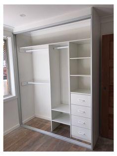 Built In Cupboards Bedroom, Bedroom Built Ins, Bedroom Cupboard Designs, Wardrobe Design Bedroom, Wardrobe Closet, Closet Bedroom, Bedroom Designs, Closet Doors, Ikea Closet