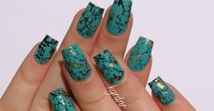 These turquoise stone nails have been quite a trend lately. I had seen a couple people try this technique, and was inspired, but I wanted t...