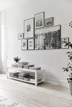 Light floors and white interior. Scandinavian style.