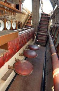 Inside deserted sub from 20,000 Leagues Under the Sea -
