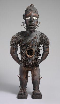 Mangaaka Power Figure (Nkisi N'Kondi), second half of 19th century  Democratic Republic of Congo or Angola, Chiloango River Region; Kongo  Wood, metal, resin, enamel