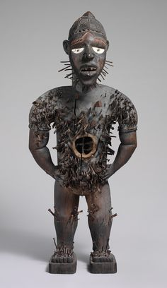 Mangaaka Power Figure (Nkisi N'Kondi), second half of 19th century Democratic Republic of Congo or Angola, Chiloango River Region; Kongo Wood, metal, resin, enamel