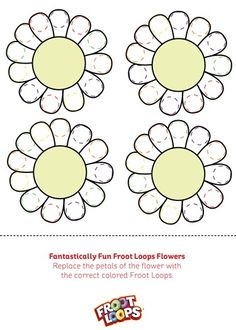 Fantastically Fun Froot Loops Flowers teaches your kids matching and colors.