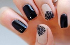 Uñas decoradas elegantes, uñas decoradas elegantes negras.  Join nails CLUB! #uñasdecolores #colornails #uñasmoda